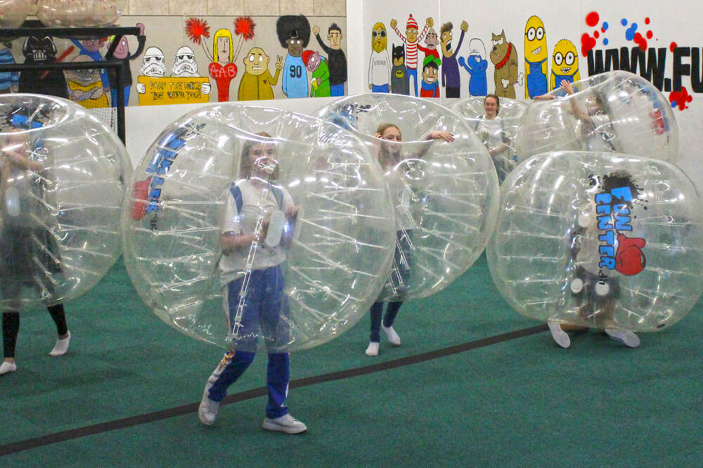 bubble soccer i FunCenter Aalborg
