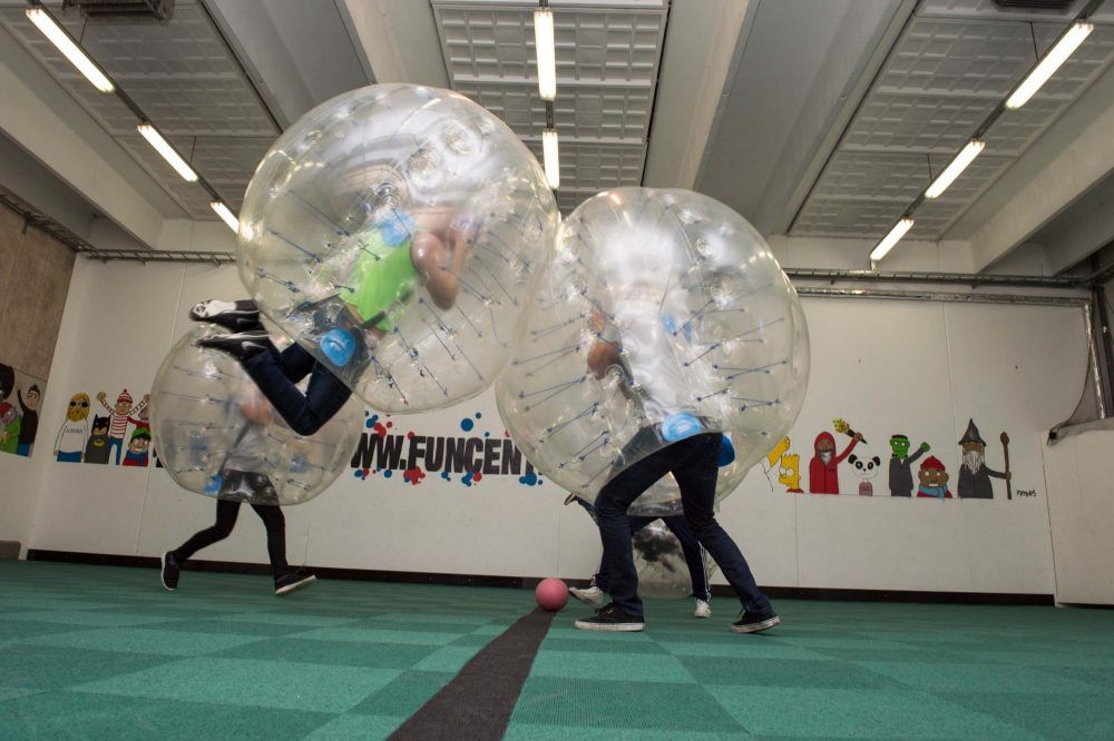 Bubble Soccer i FunCenters Eventhal 1