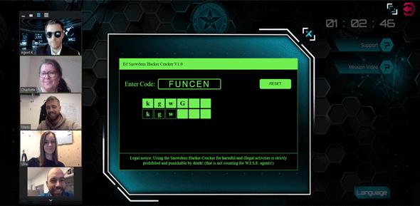 hacker cracker online teambuilding