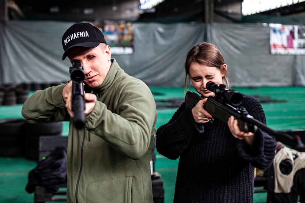 Polterabend på skydebane